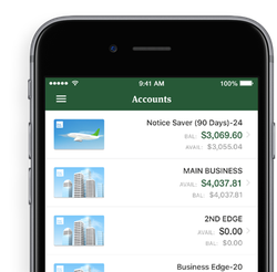 business banking app cellphone